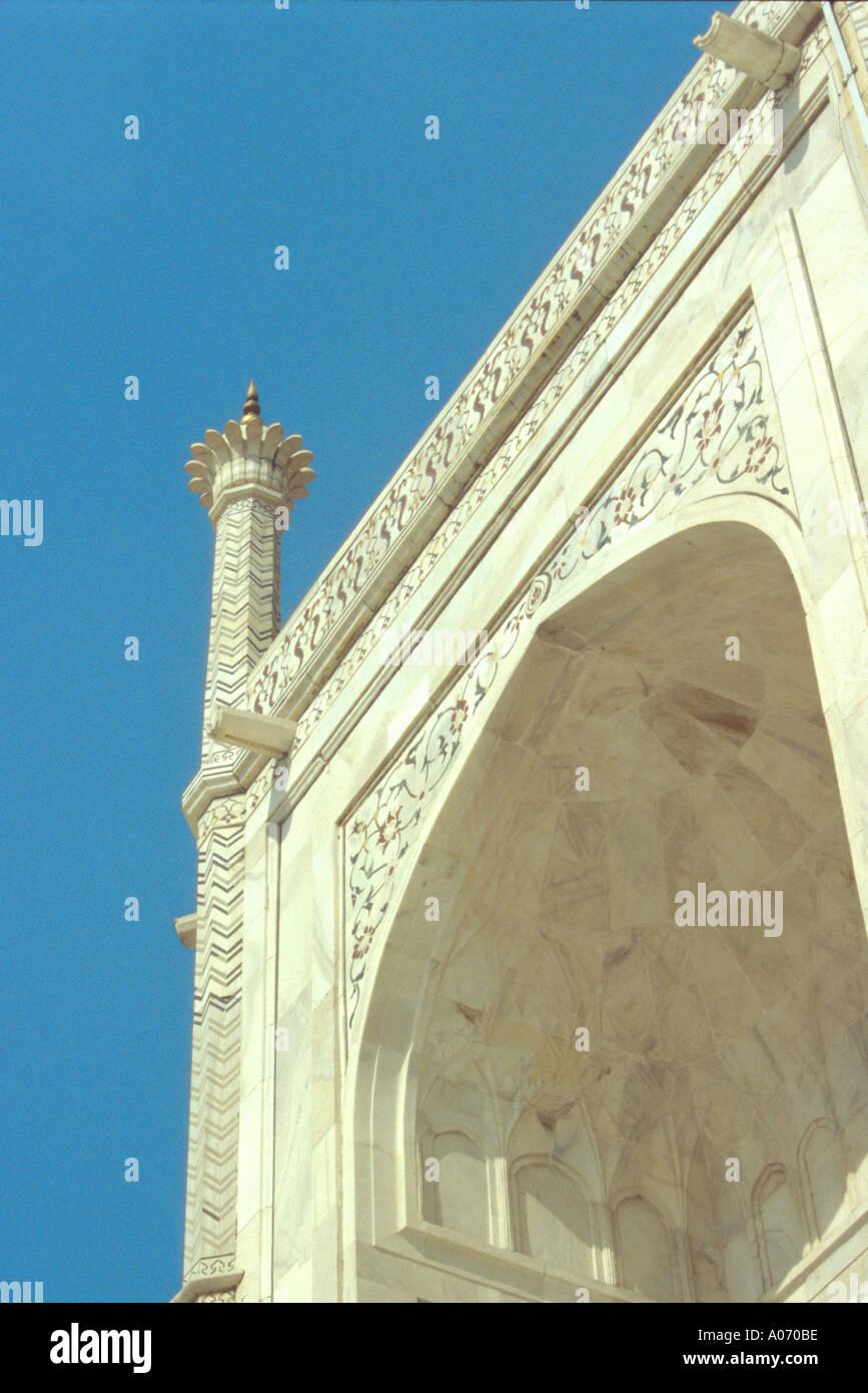Taj Mahal Detail, Agra, Rajasthan, India Stock Photo