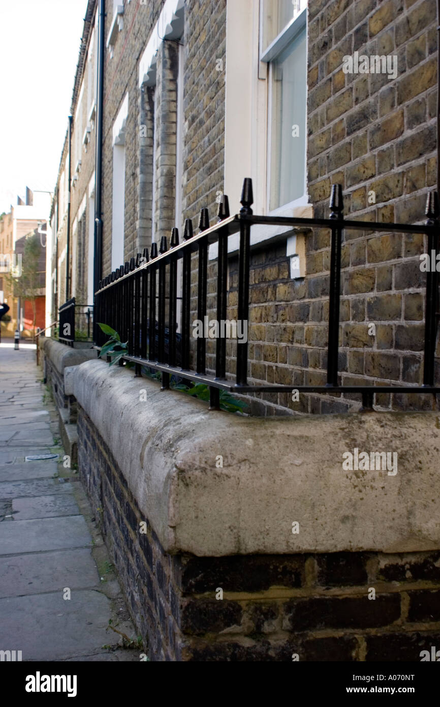 row of terraced houses in London England Stock Photo