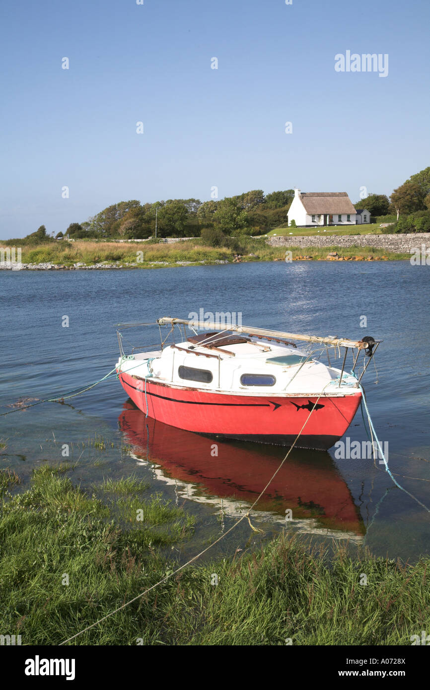 Boat in harbour Ballyvaughan, County Clare, Ireland - Stock Image