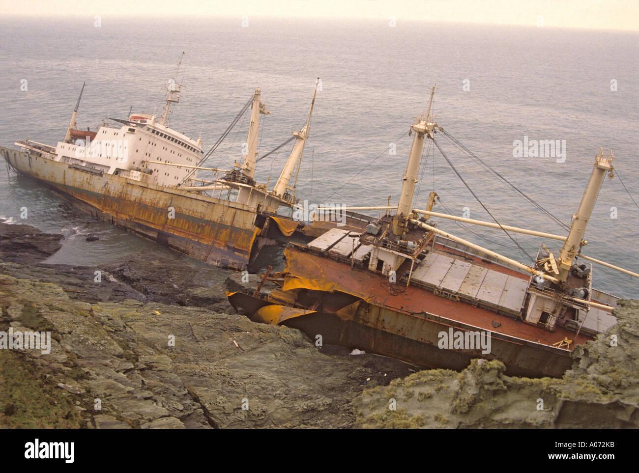 '^Shipwreck, 'Start Point', Devon' - Stock Image