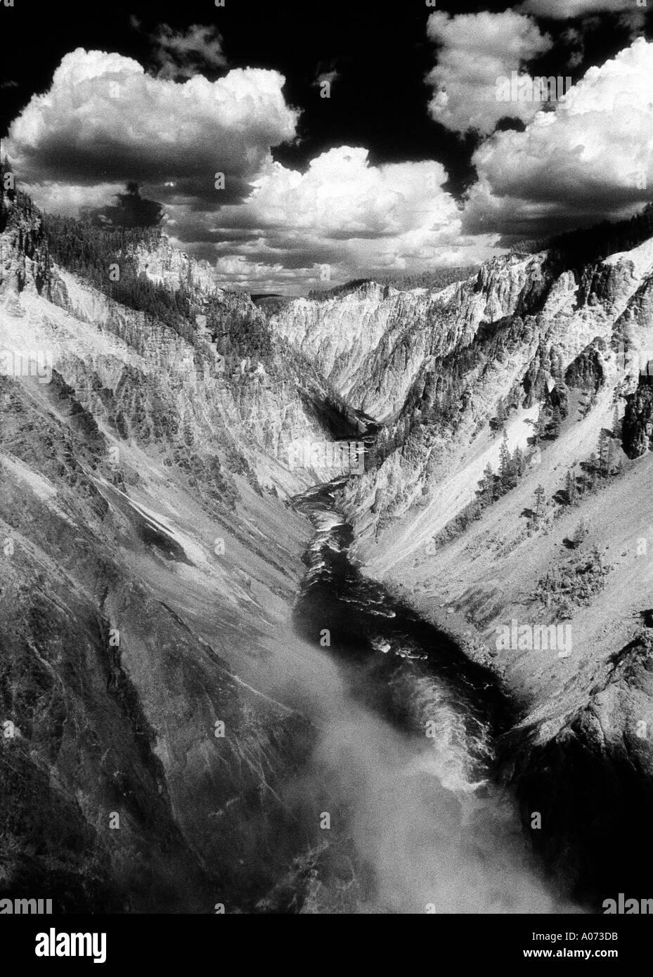The Grand Canyon of Yellowstone River Yellowstone Natl Park Wyoming USA - Stock Image
