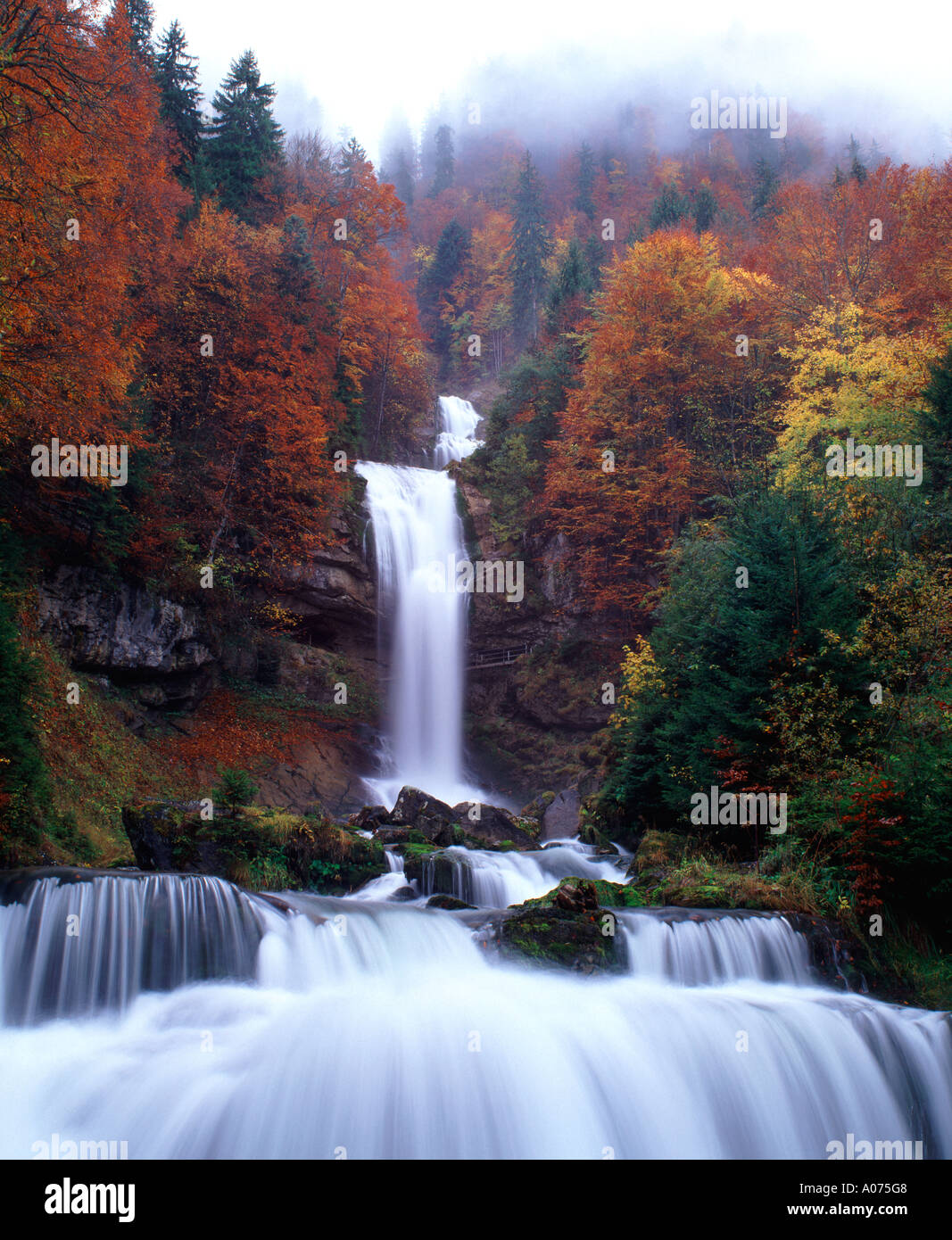 Giessbach Falls, Bernese Oberland, Switzerland Stock Photo