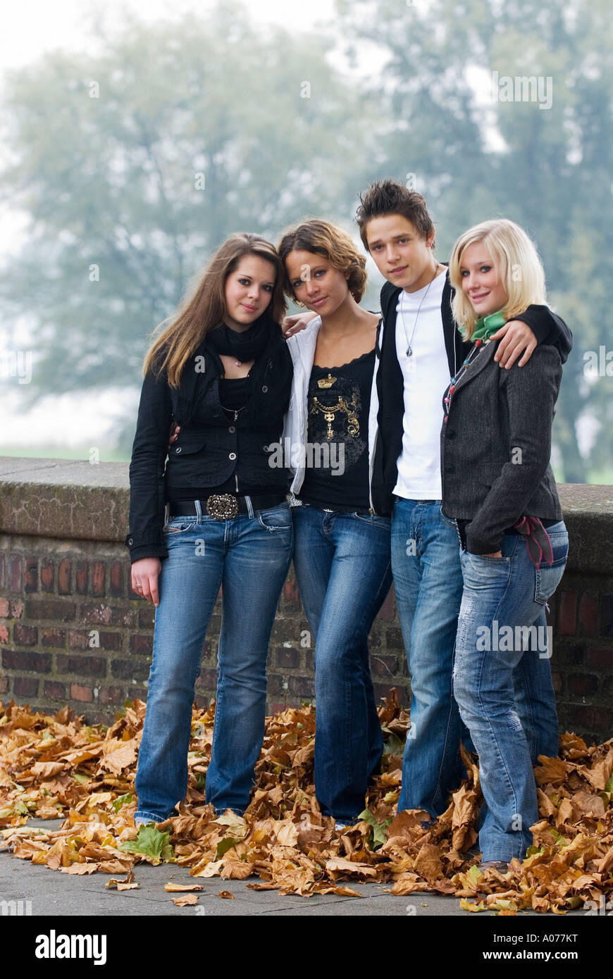 three girls and one boy