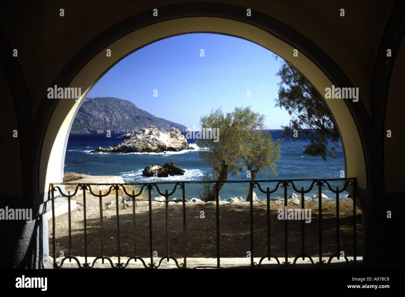 Seascape Pigadia Karpathos Greece Europe Stock Photo