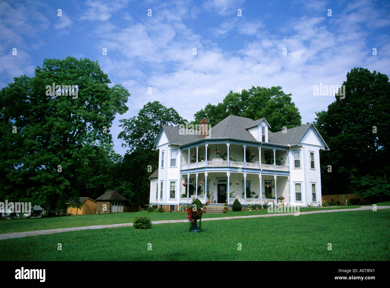 A victorian house in Winchester, Tennessee. Circa 1900. - Stock Image