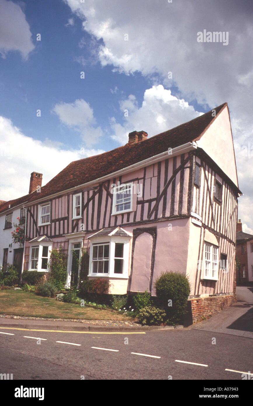The Crooked House Lavenham Suffolk England United Kingdom - Stock Image
