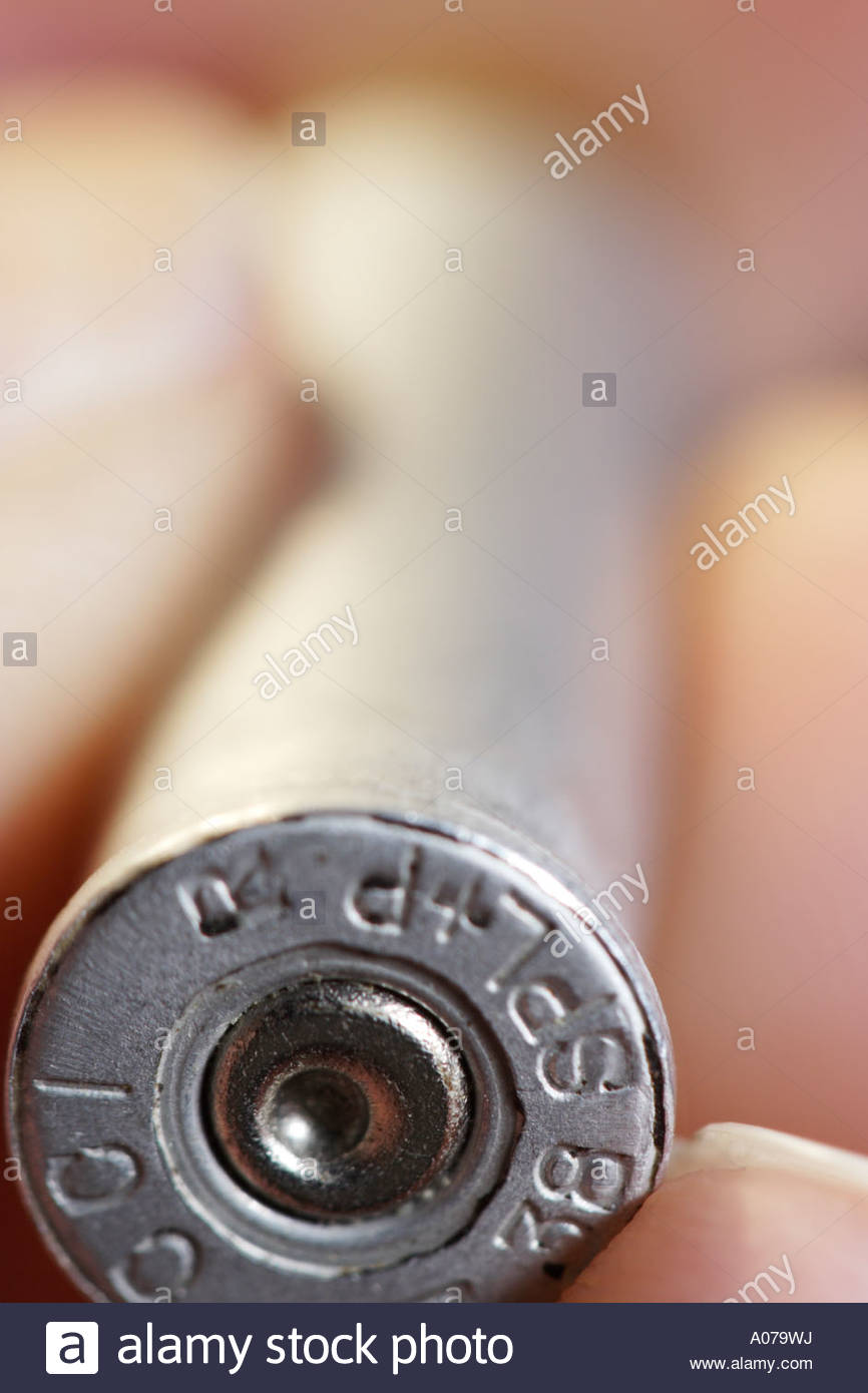 spent .38 Special handgun cartridge - Stock Image