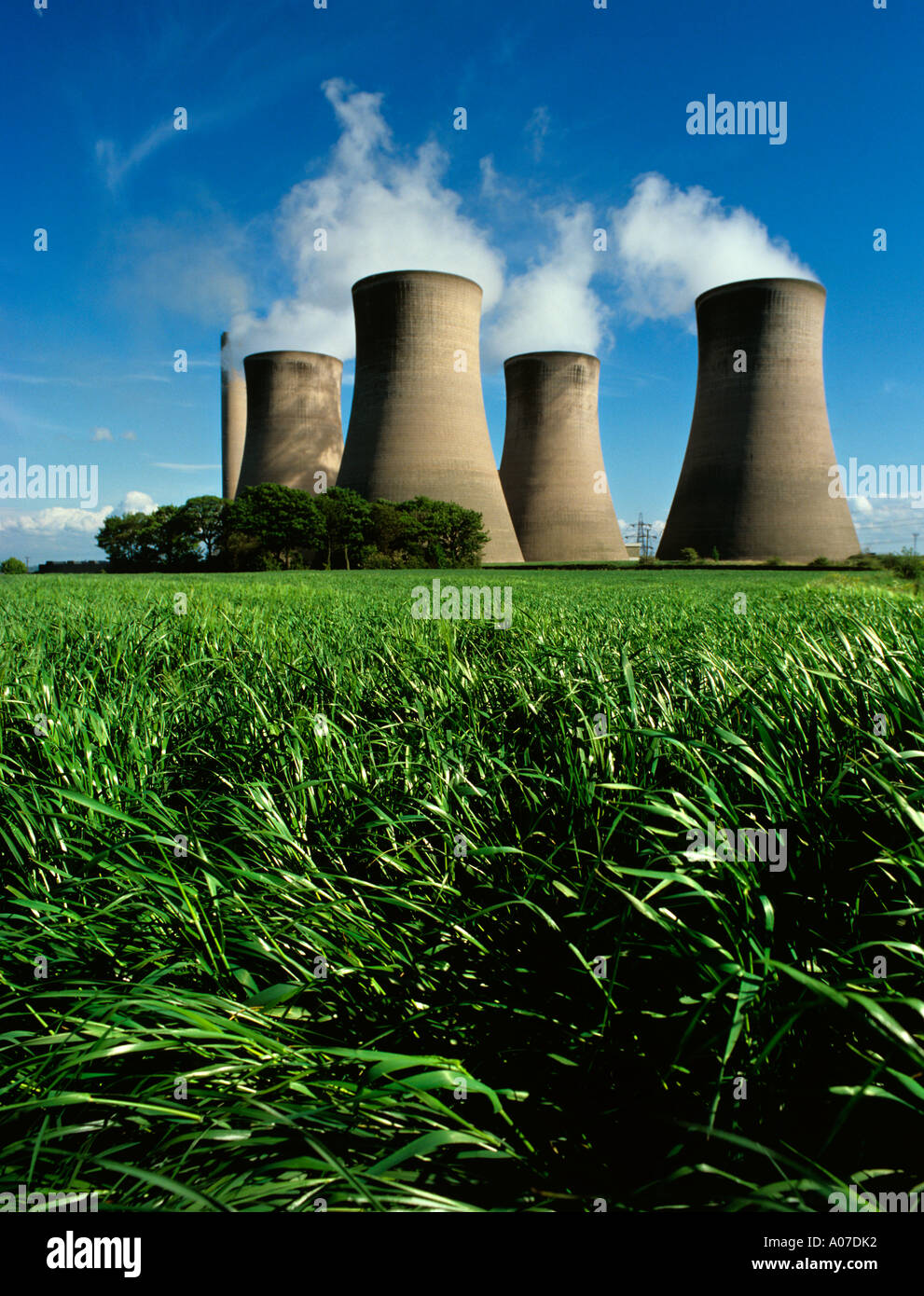 Environment Power Station Cooling Towers Stock Photo