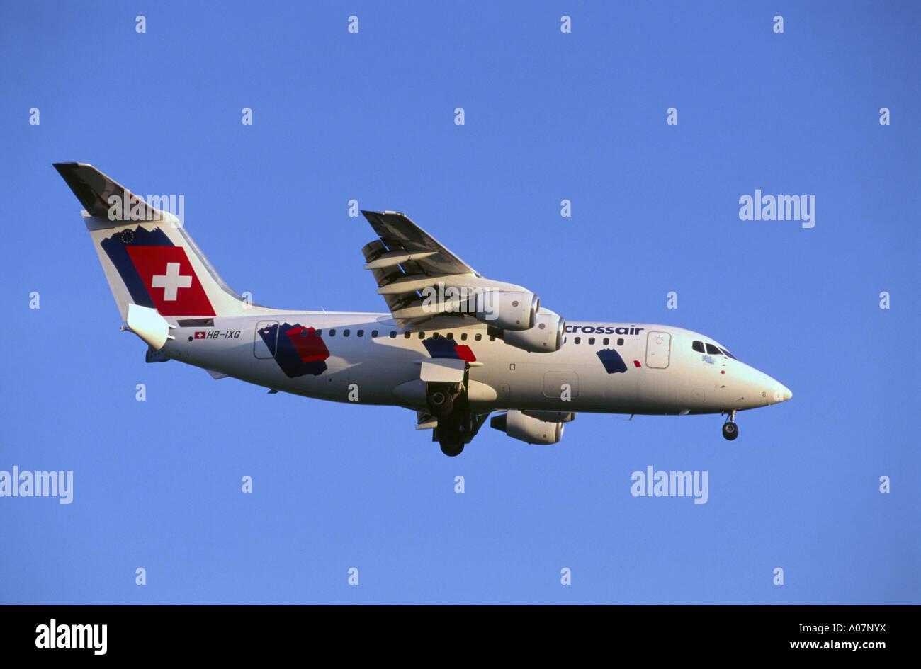 Aerospatiale/Alania Avro RJ 100 (RJ85) of the Swiss International Airlines.   GAV 4018-382. - Stock Image