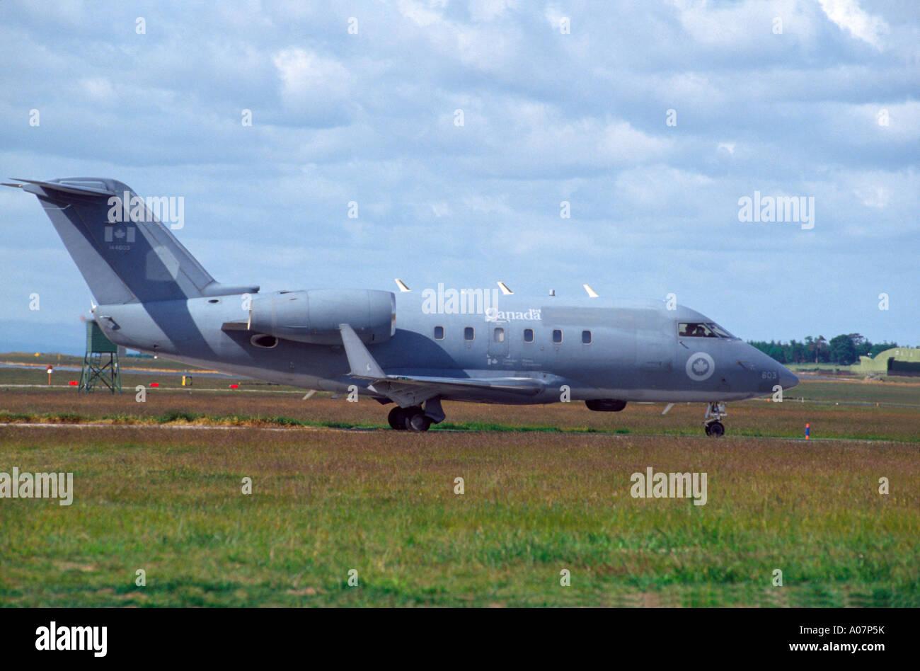 Canadair CC-144 Challenger Military Transport.  GAV 4023-383 - Stock Image