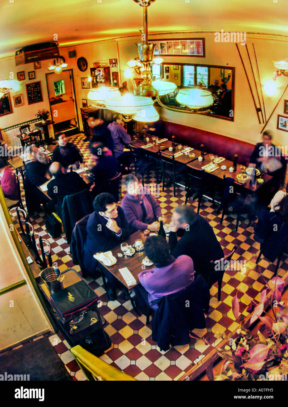 PARIS France People In Overview Traditional French Bistro Stock