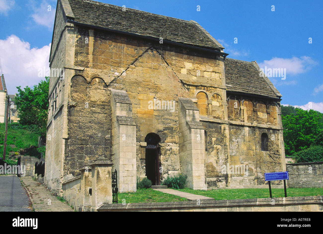Saxon church of St Laurence founded by St Aldhelm Bradford on Avon Wiltshire England Stock Photo