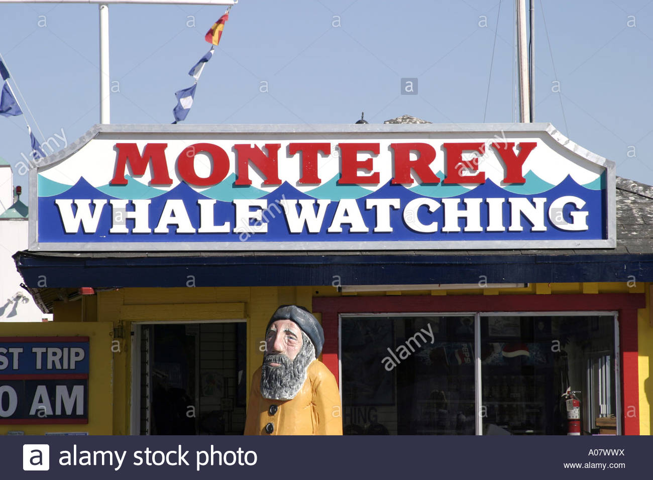 Monterey Old Fisherman's Wharf - Stock Image