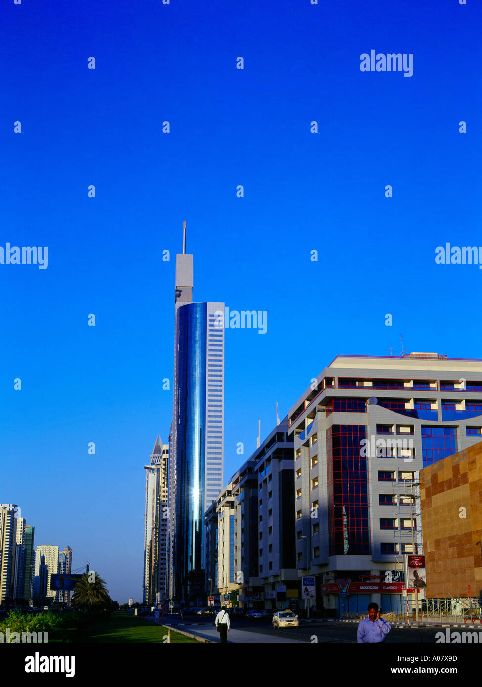 Dubai UAE 21st Century Tower in Sheikh Zayed Road  Residential Building - Stock Image