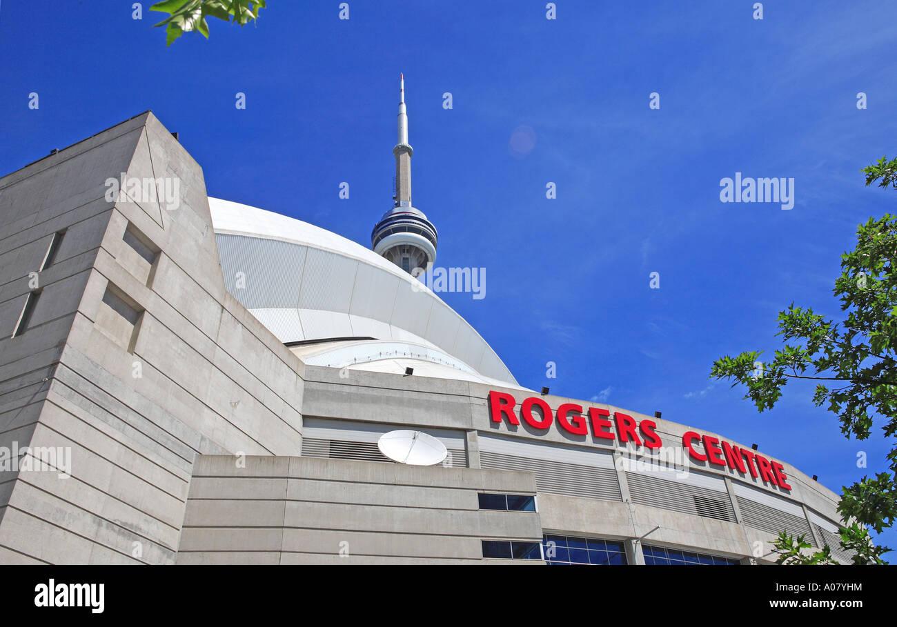 Toronto, CN Tower And Skydome - Stock Image