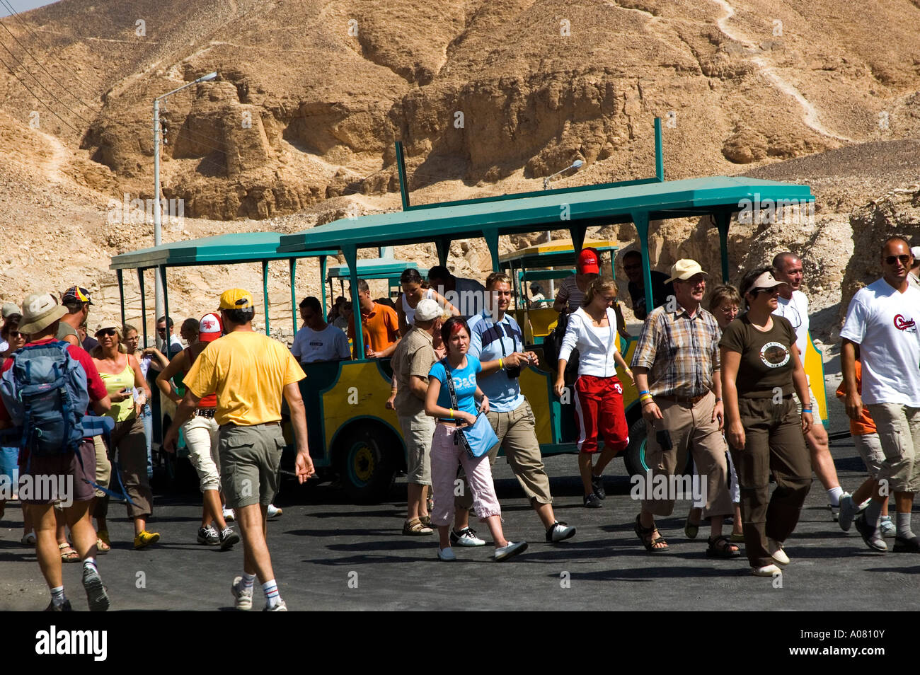Valley Of The King's, Tourists Train - Stock Image