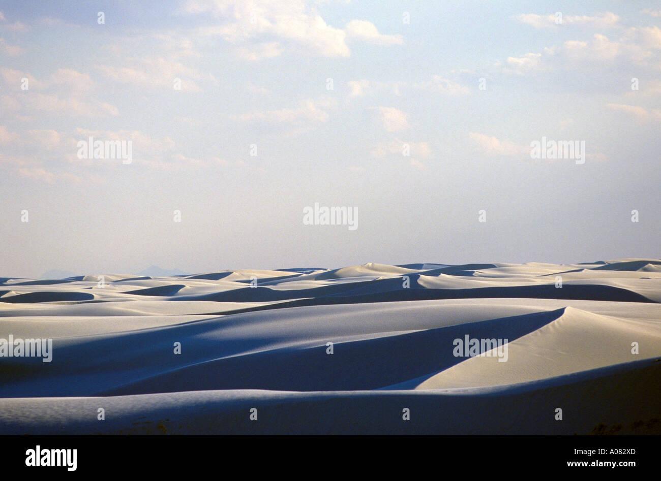 White Sands Dunes New Mexico Stock Photo