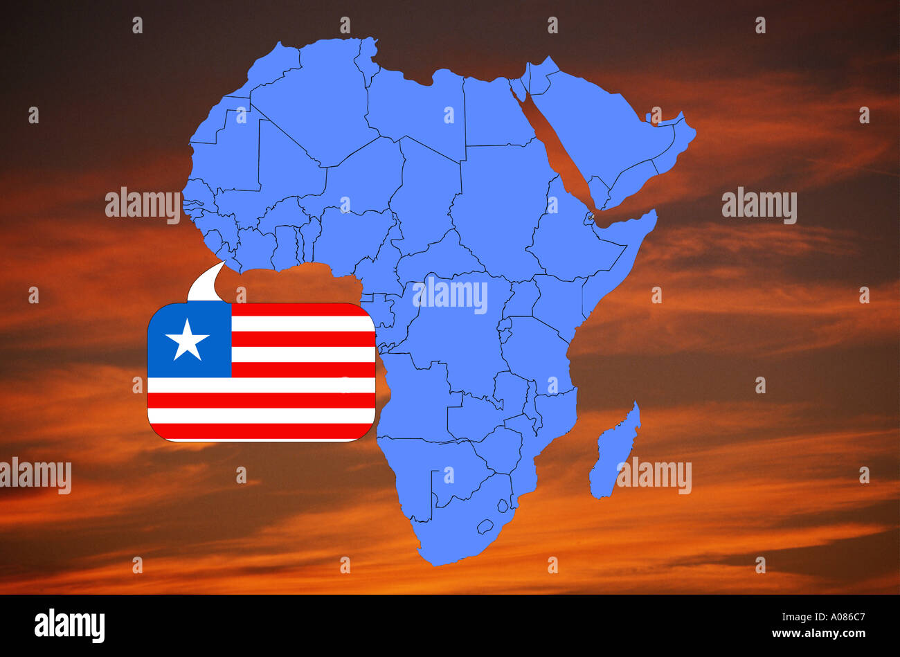 Image of: Map Africa Liberia High Resolution Stock Photography And Images Alamy