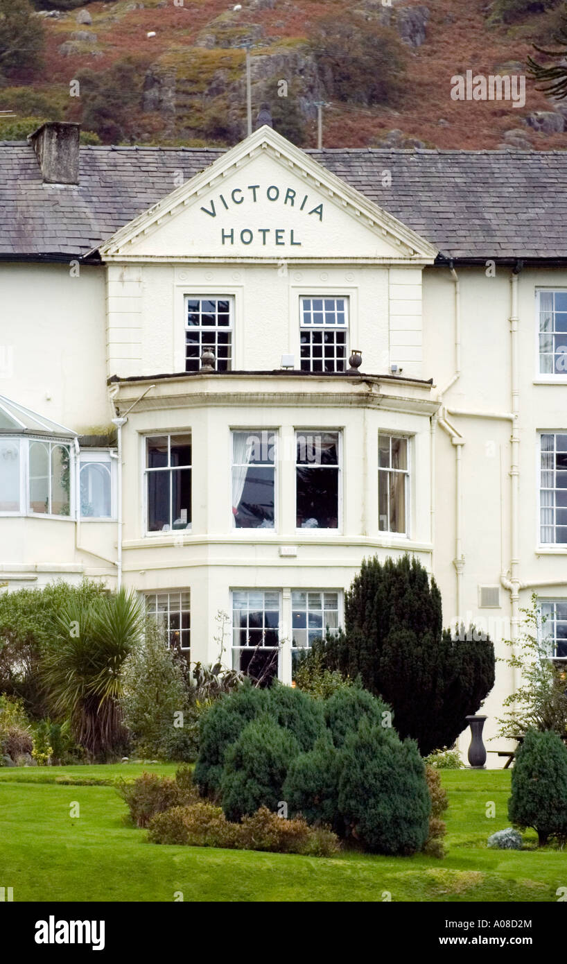 The Royal Victoria Hotel On The Edge Of The Small Town Of Llanberis
