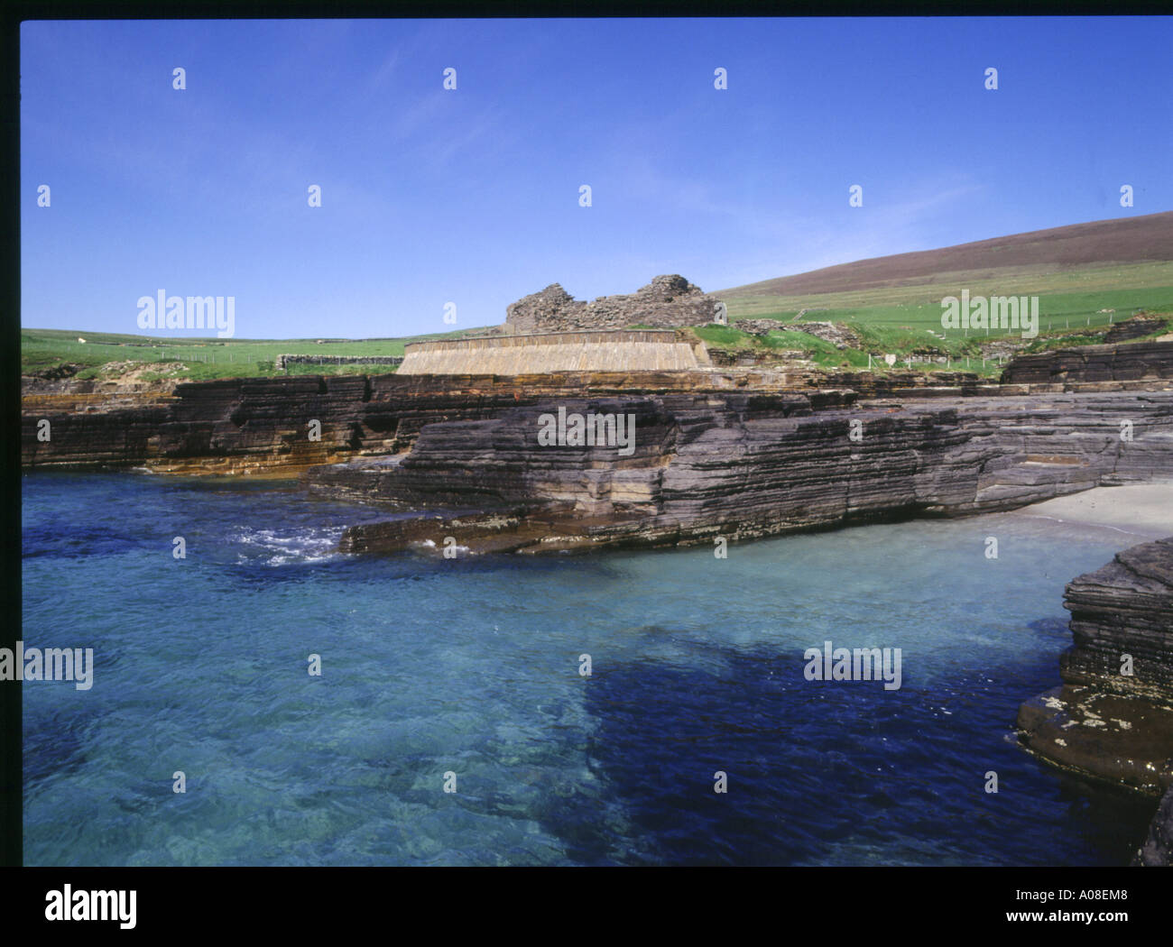dh Midhowe Broch ROUSAY ORKNEY Iron ages fortified defensive dwelling stronghold - Stock Image
