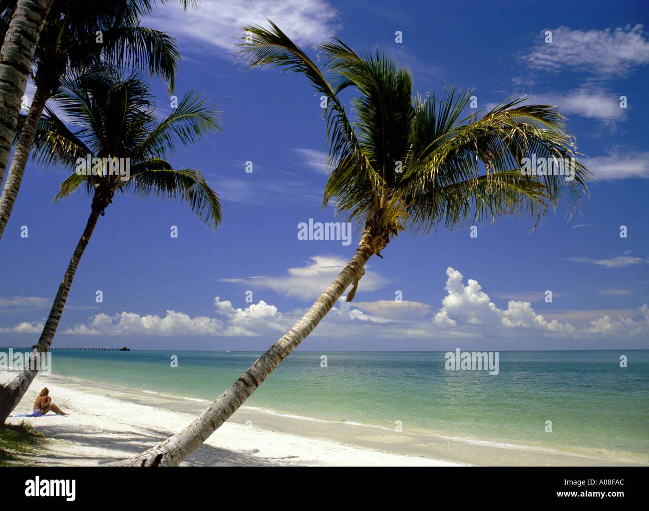 Gulf Coast Beach Ft Myers Florida USA - Stock Image