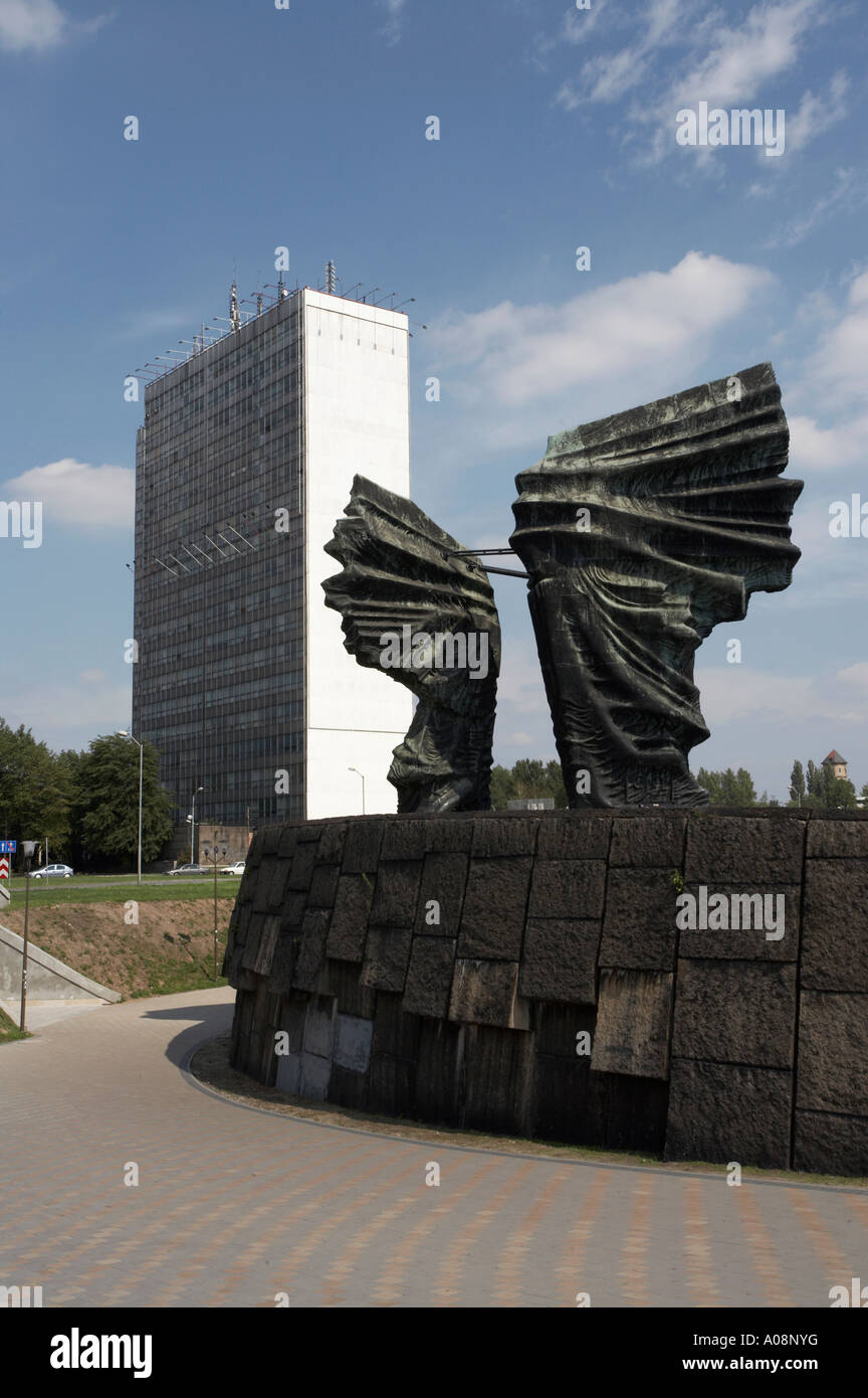 Monument to the Silesian Insurgents in Katowice Stock Photo