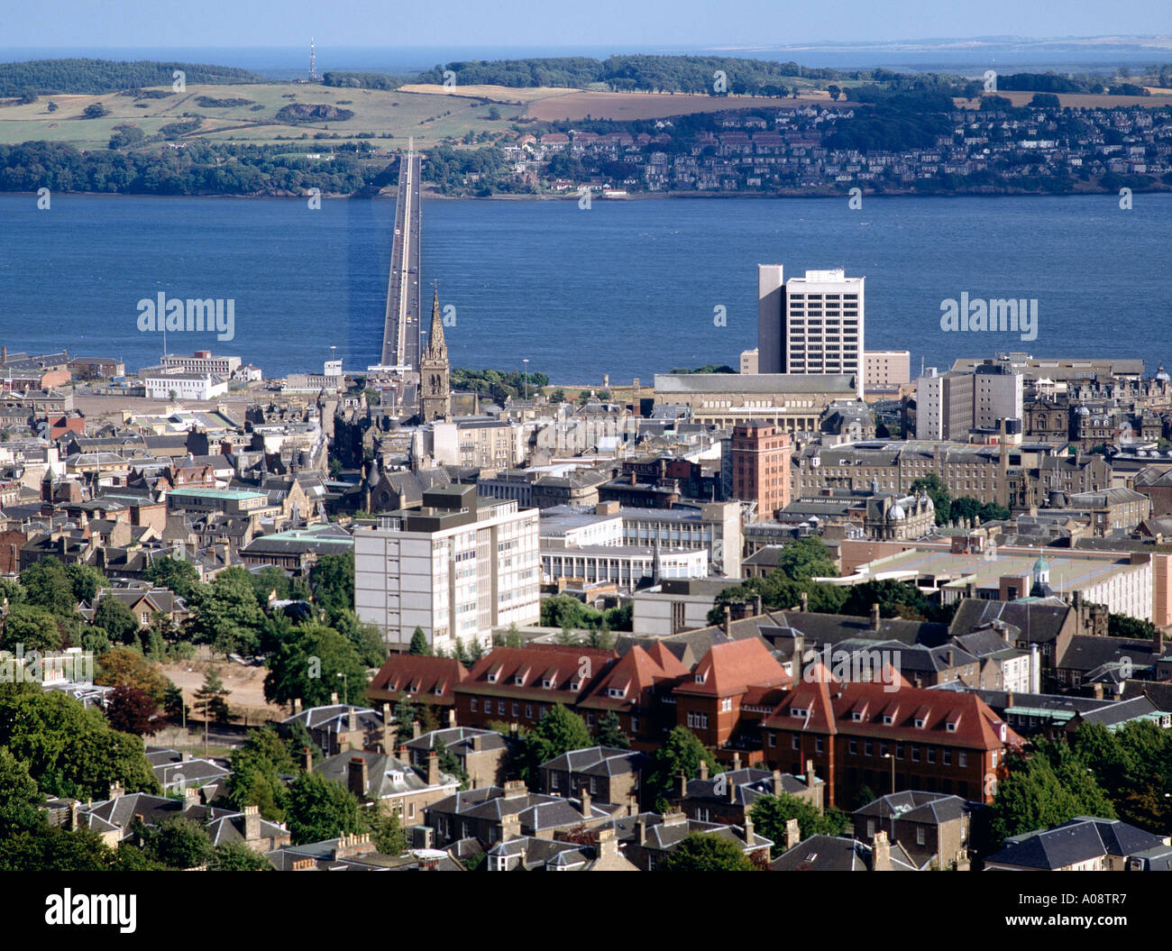dh Tay bridge DUNDEE ANGUS City Tay road bridge and River Tay scotland cityscape view skyline - Stock Image