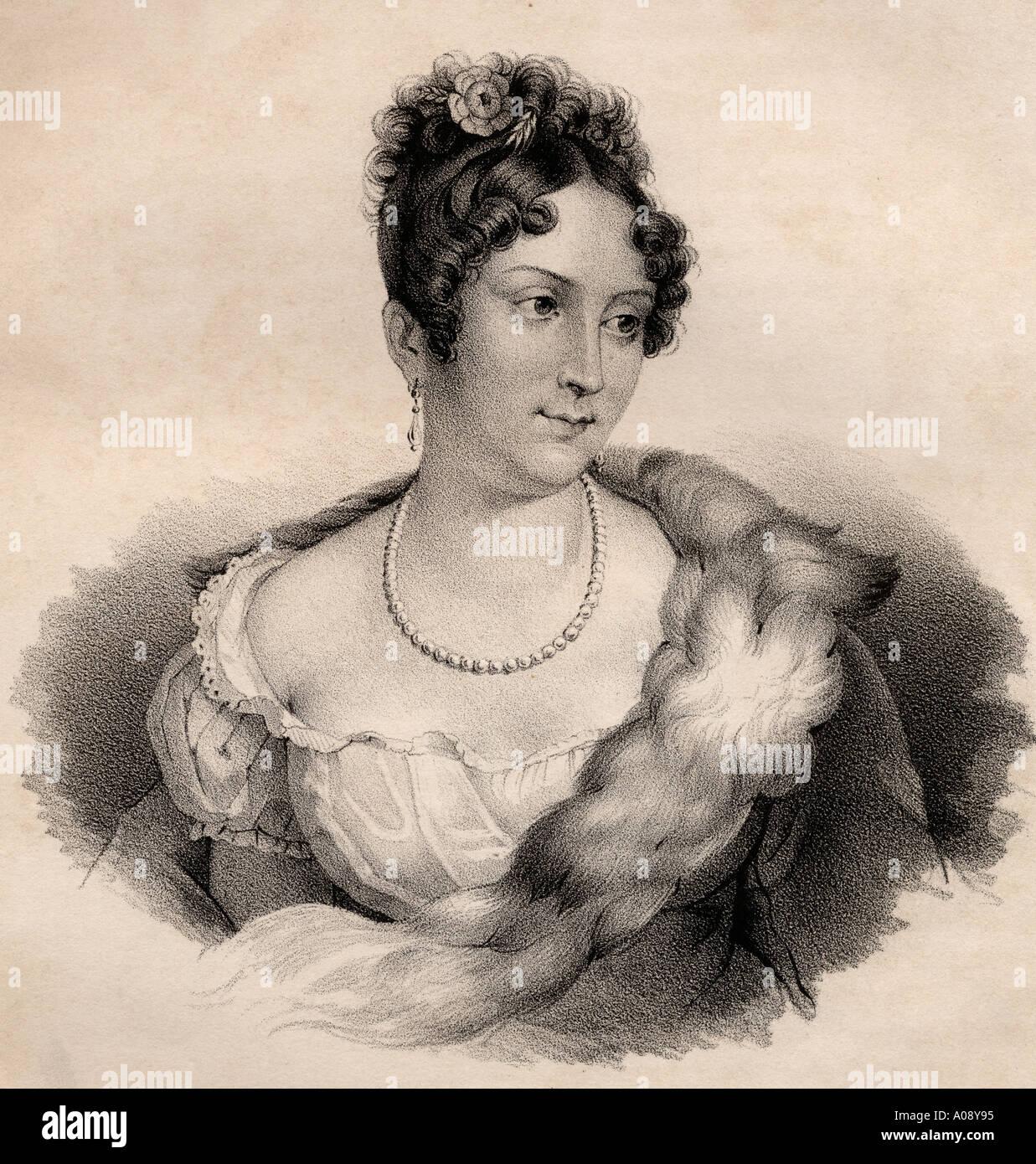 Mademoiselle Mars, (Anne Françoise Hyppolyte Boutet Salvetat)) 1779 -1847.  French actress at the Comédie Française - Stock Image