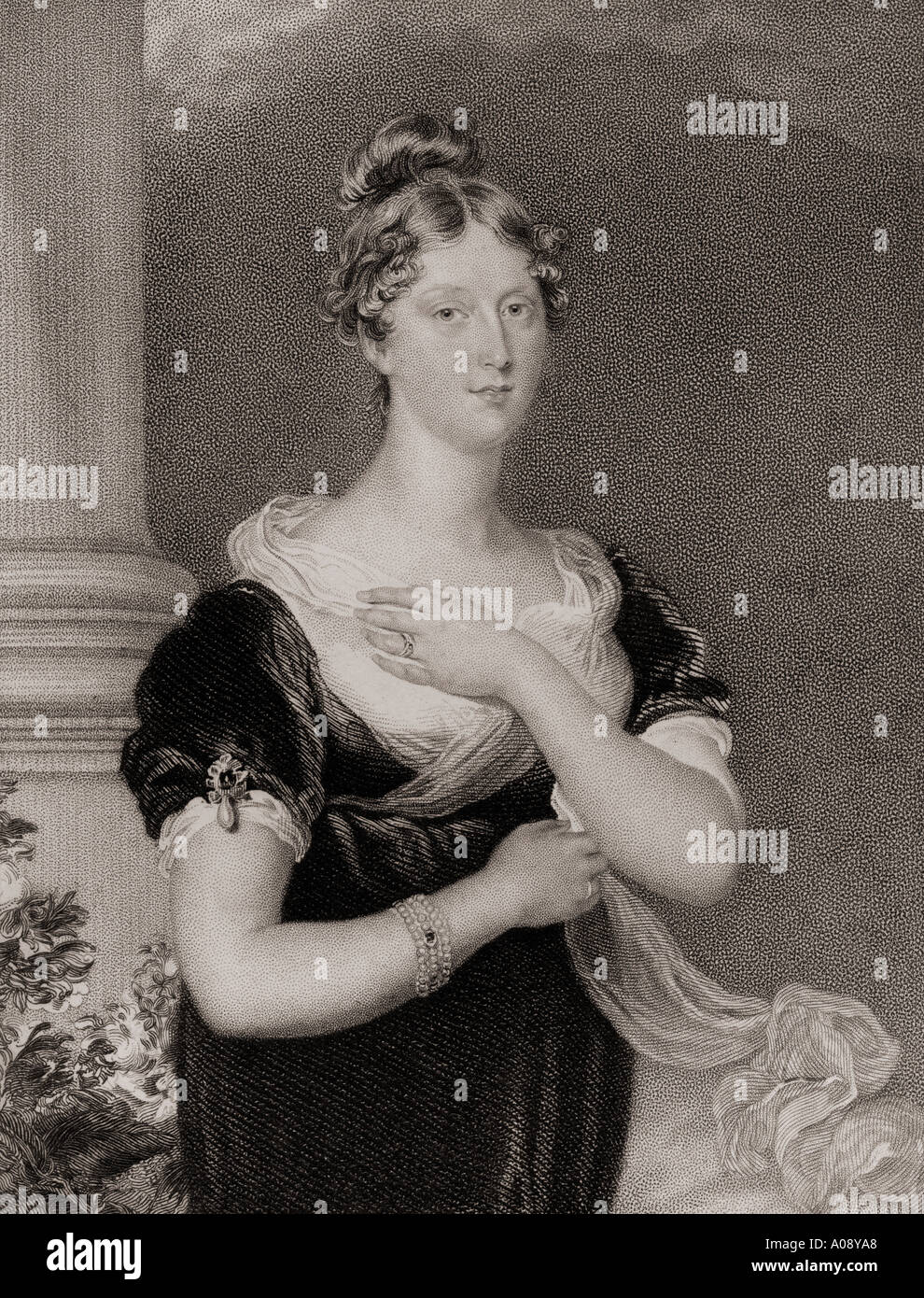 Princess Charlotte Augusta of Wales, 1796 - 1817. Daughter of George IV. - Stock Image