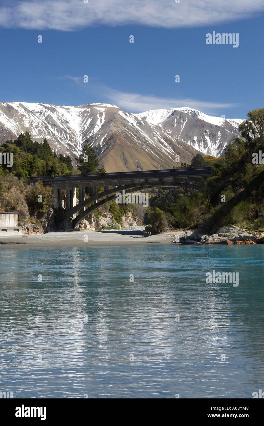 Rakaia River Canterbury South Island New Zealand Stock Photo