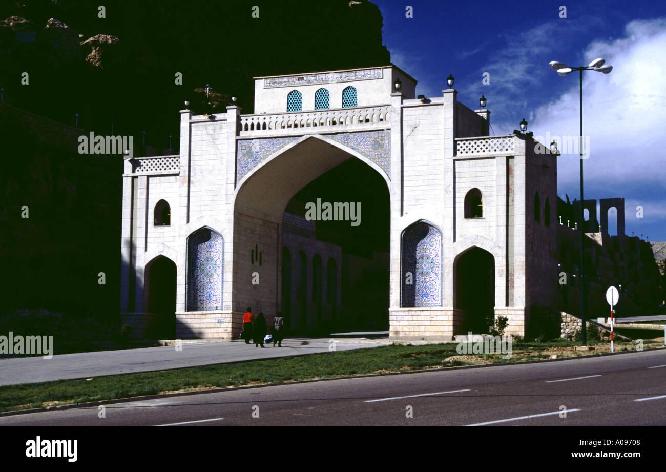 Iran Shiraz the Koran gate Allah akbar gate - Stock Image
