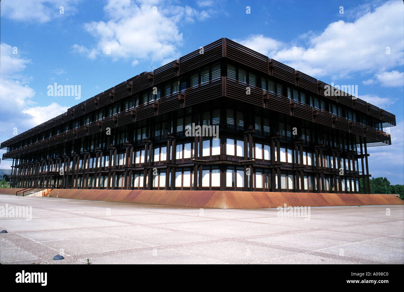 Old Building of the European Court of Justice in Luxemburg - Stock Image