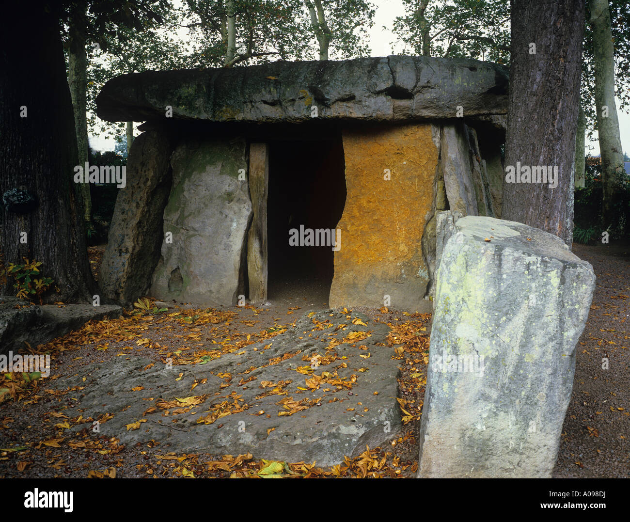 Le Grand Dolmen massive burial chamber in the Saumur suburb of Bagneux - Stock Image
