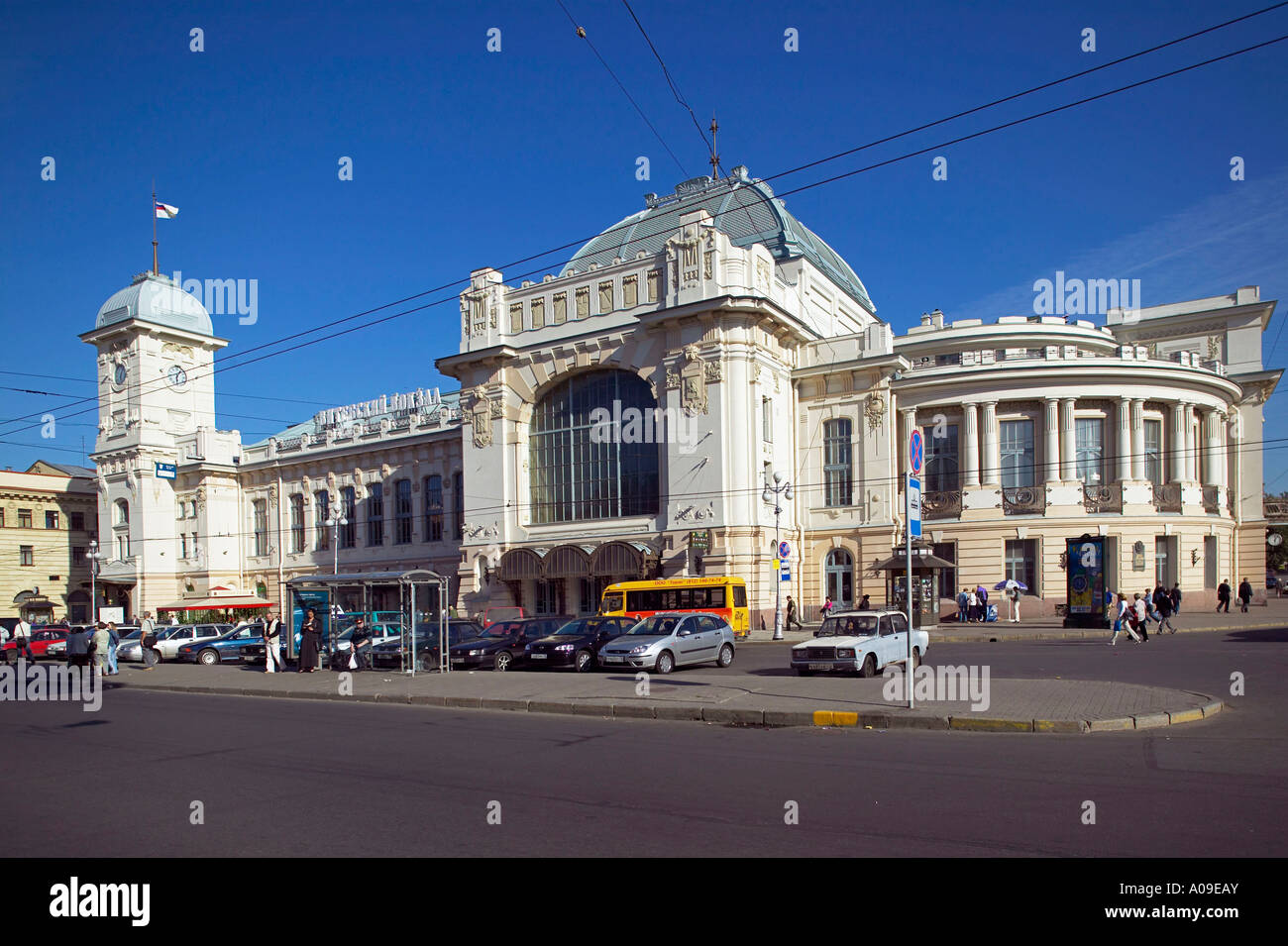 Sankt Petersburg, Witebskij Bahnhof, Saint Petersburg Witebskij Train Station - Stock Image