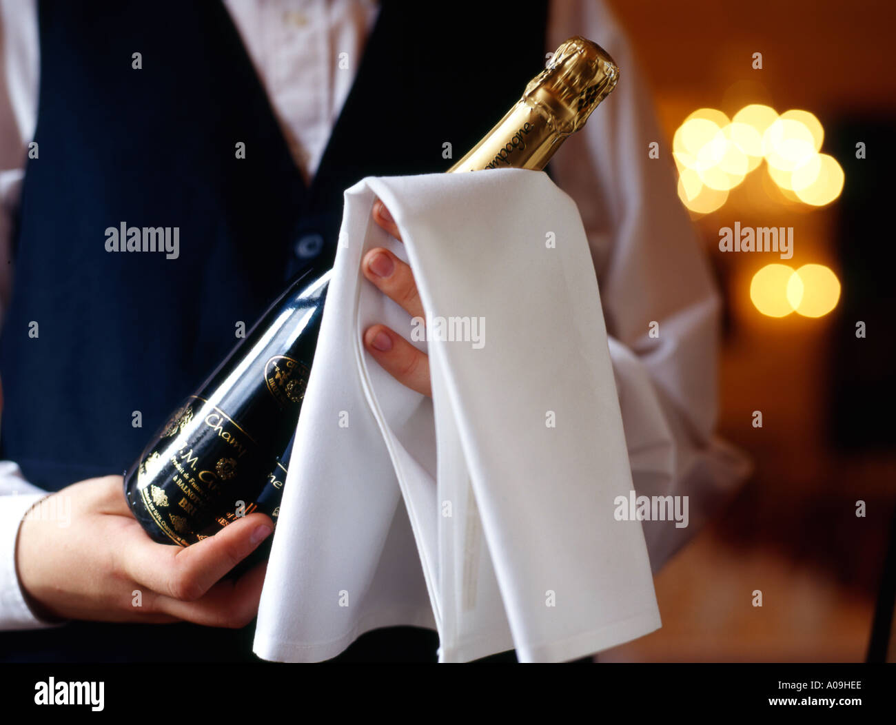 WINE WAITER - Stock Image