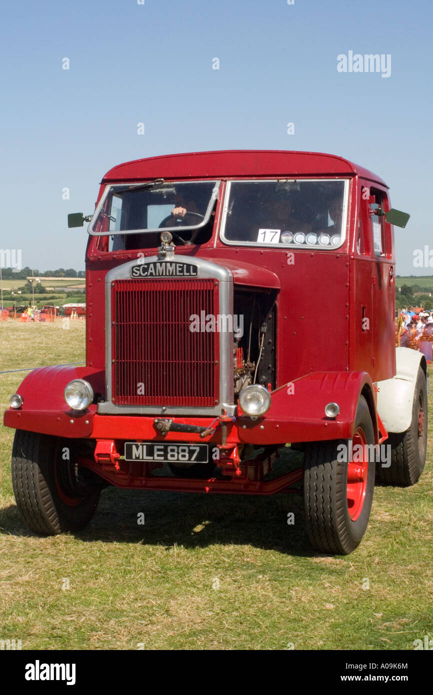 Vintage Scammell tractor unit at the Somerset Steam Spectacular - Stock Image