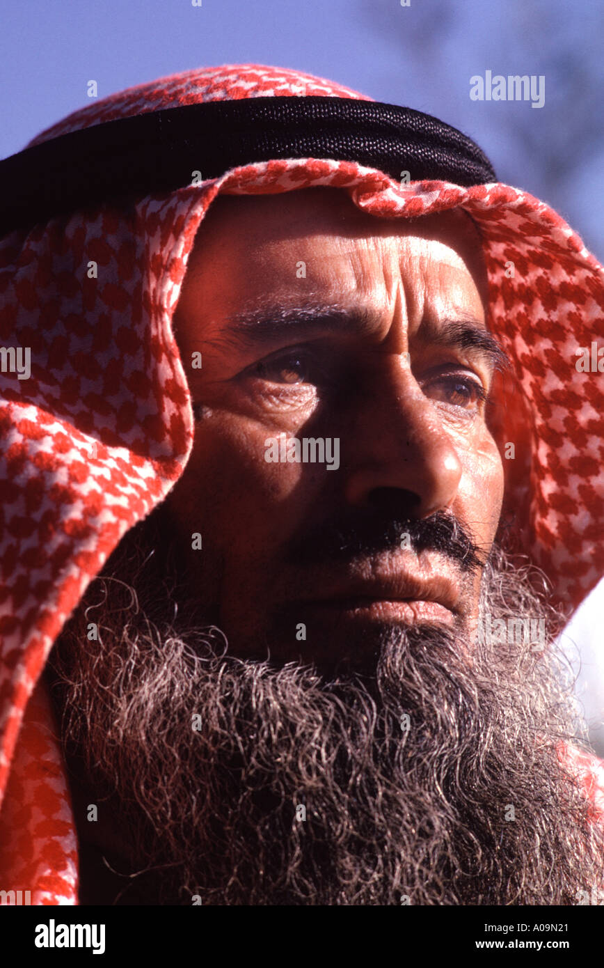 Saudi Arabia, Asir Province. Typical mountain farmer. Strong featured strong character - Stock Image
