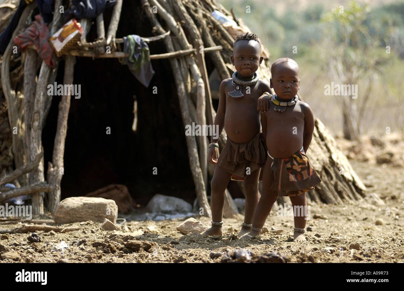 Himba children - Stock Image