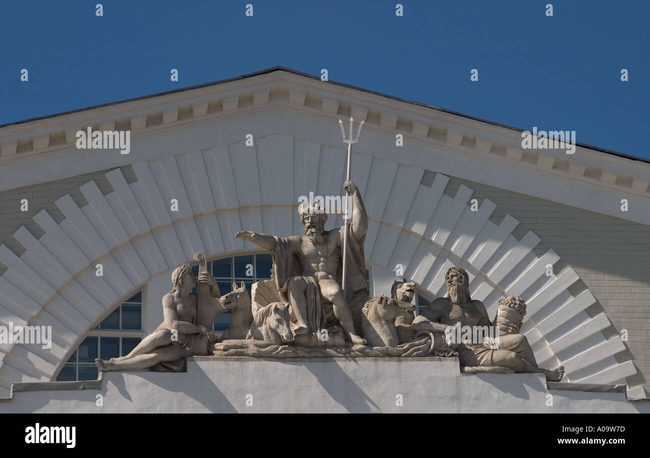 Detail of Naval Museum facade St Petersburg Russia Stock Photo