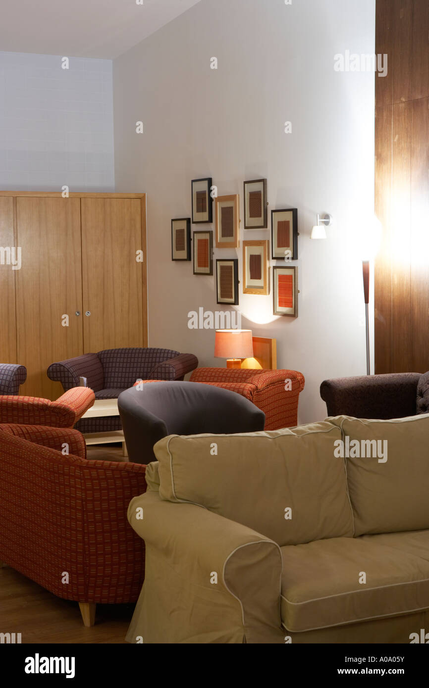 large comfy sofas in a restaurant Stock Photo: 9928646 - Alamy