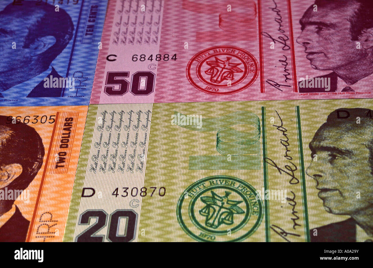 currency of Principality of Hutt River, a self-declared microstate in Western Australia Stock Photo