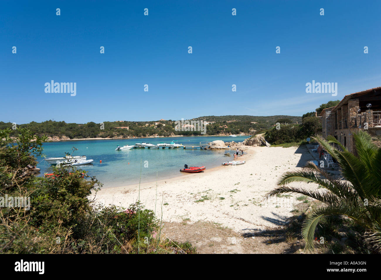 Beach in the resort centre, Tizzano, near Sartene, Corsica, France Stock Photo