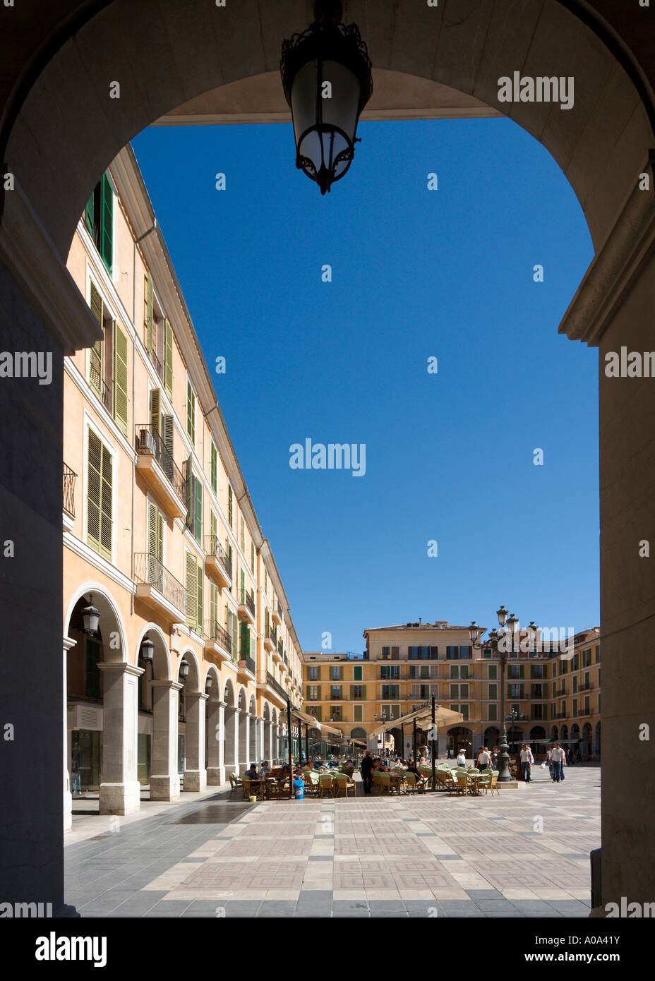 Plaza Mayor (Placa Major), Palma, Mallorca, Balearic Islands, Spain - Stock Image