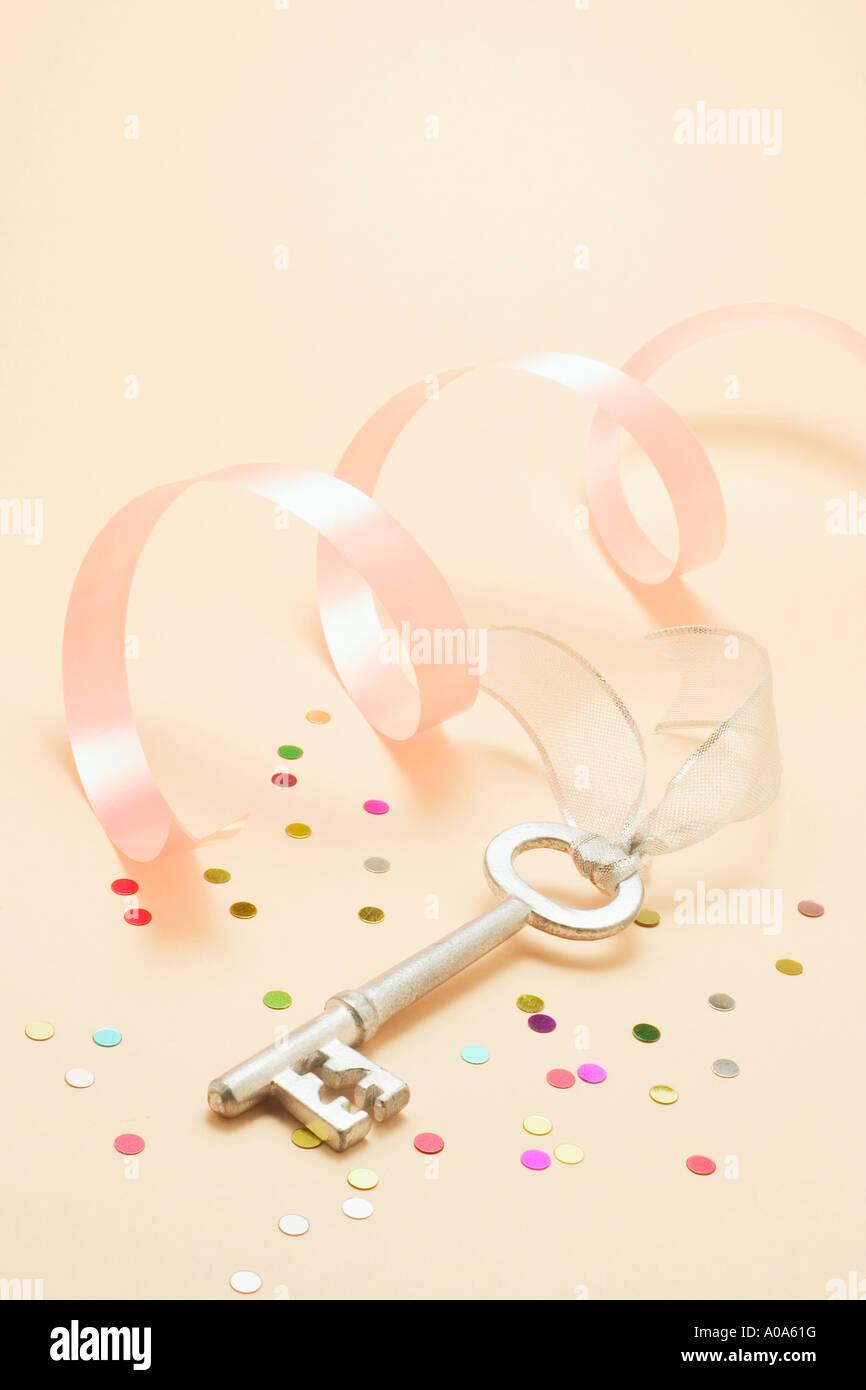 21st Birthday Key - Stock Image