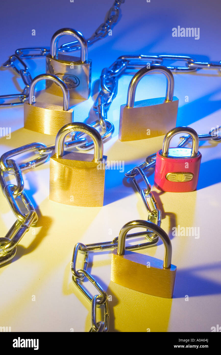 Locks and Chains - Stock Image
