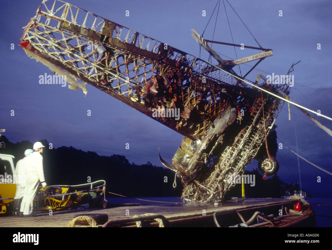 WW2 Wellington Bomber salvage from Loch Ness Scotland in 1985.   GAV 2090-86 - Stock Image