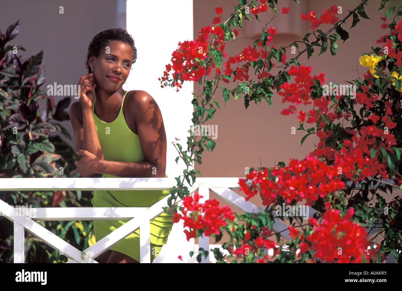 Reflective Caribbean: Trinidad And Tobago Dress Stock Photos & Trinidad And