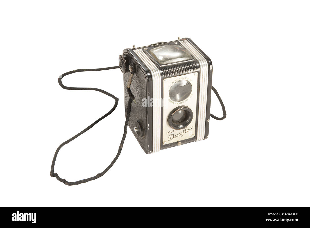 Old camera with clipping path - Stock Image