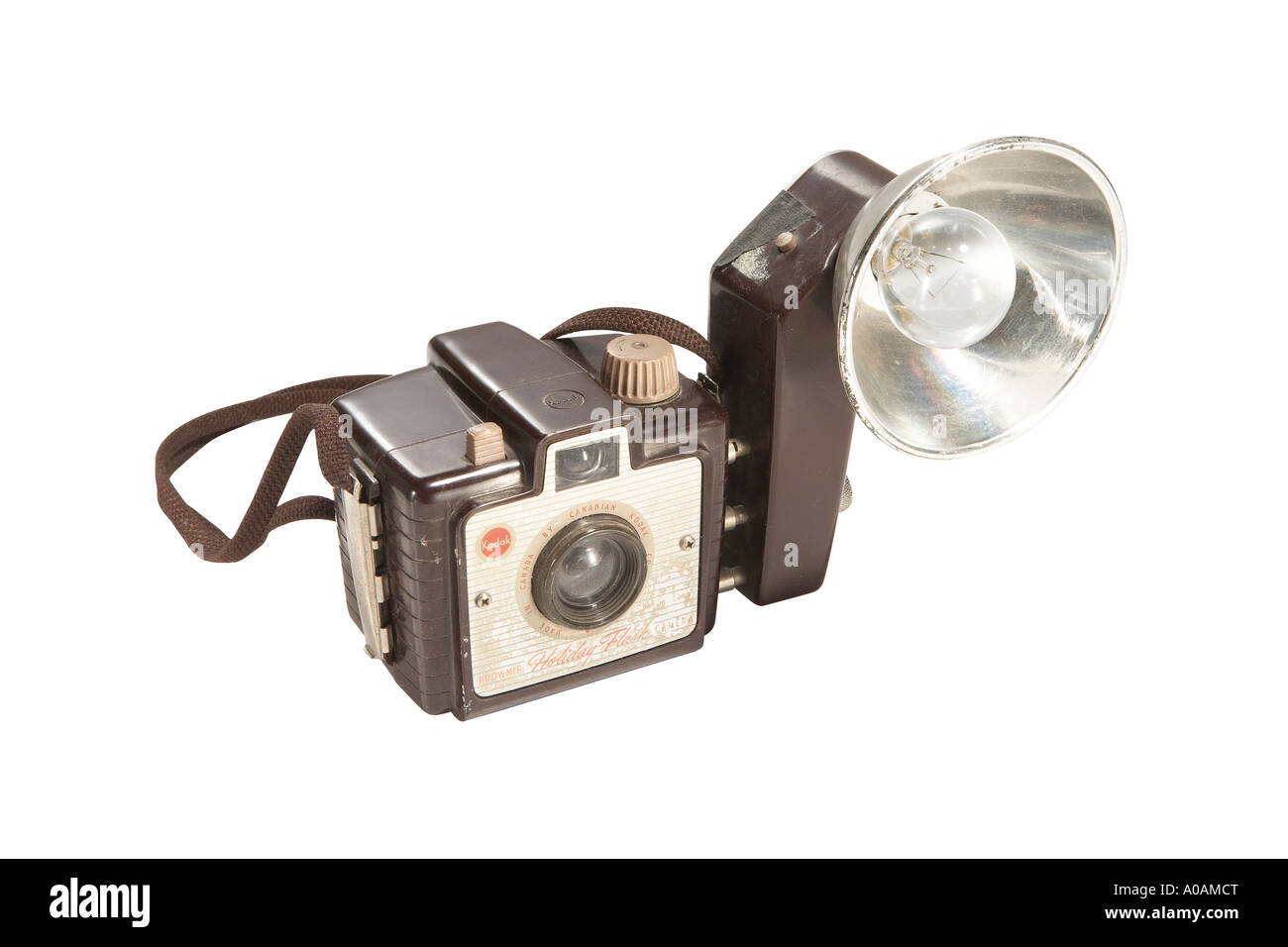 Brownie camera with clipping path - Stock Image