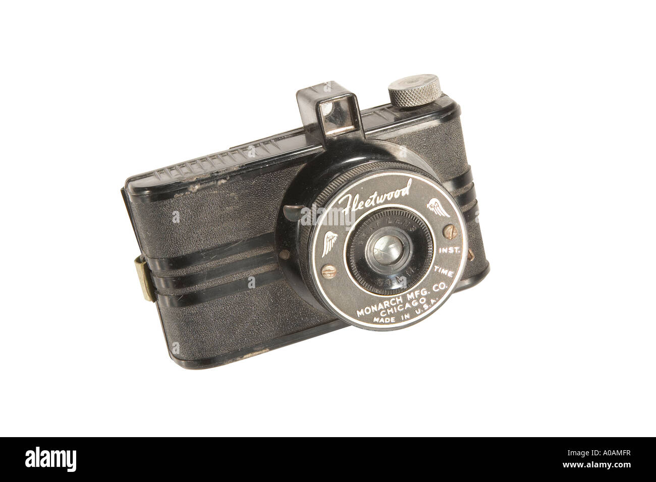 Old miniature camera with clipping path - Stock Image